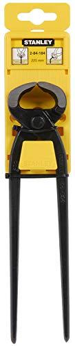 Stanley Kantenzange (225 mm Länge, hochwertiger Stahl, geschliffene Backen und Schneiden, ISO 9243/DIN 5241)...