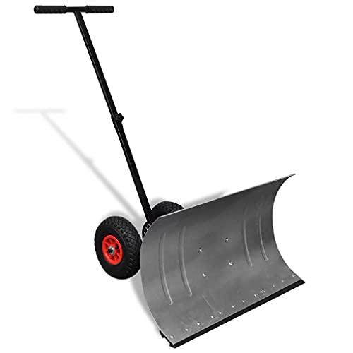 vidaXL Schneeschaufel mit Rädern Schneeschild Schneeschieber Schneeräumer