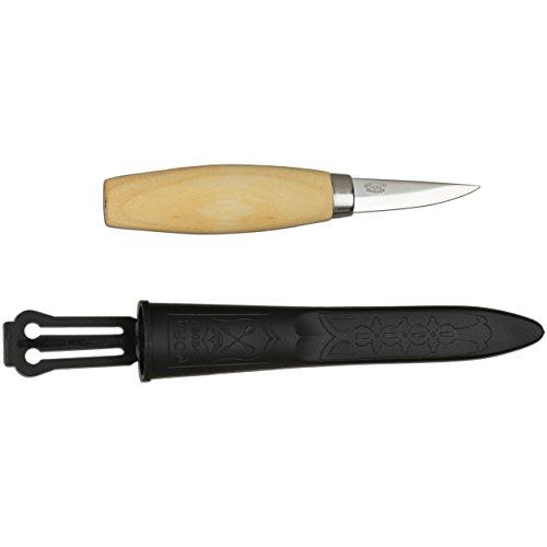 Morakniv Werkzeug Kerbschnitzmesser geölter Birkenholzgriff 3-lagig Gesamtlänge: 17.0 cm, Grau, M