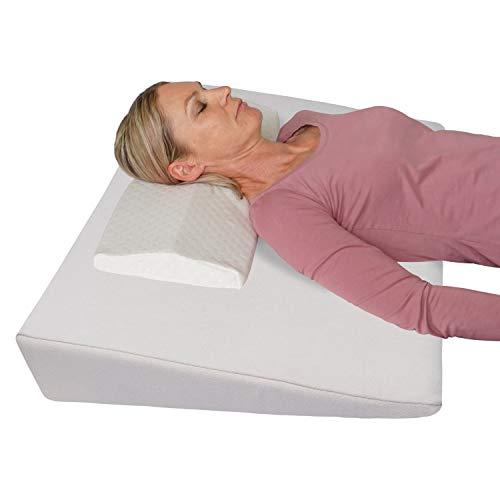 Bettkeil Keilkissen Schlaferhöhung + Nackenkissen Gratis dazu! Als Bein- oder Rückenkissen für Bett und...