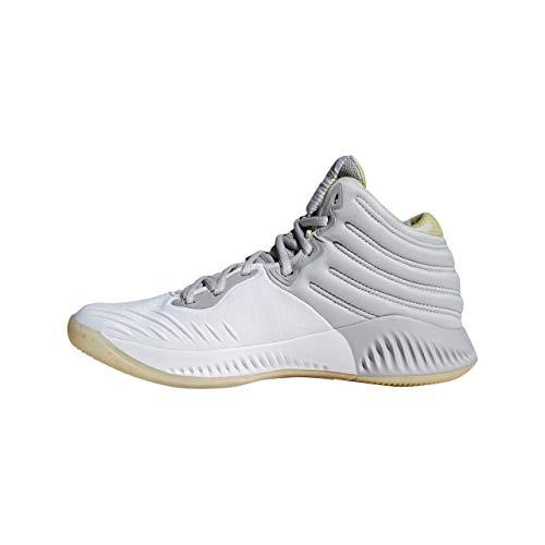 adidas Herren Mad Bounce 2018 Basketballschuhe, Weiß (Ftwwht/Gold Mt/Gretwo Ftwwht/Gold Mt/Gretwo), 48 EU