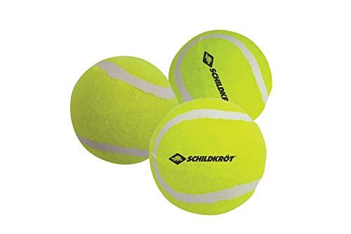 Schildkröt Freitzeit-Tennisbälle, 3 Stück, drucklos im Meshbag, gelber Filz, für das erste Tennis-Spiel...