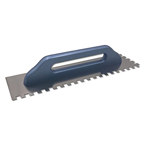 DEWEPRO® Schweizer Glättekelle - Glättkelle - Aufziehplatte - Aufziehglätte - Edelstahl 480x130mm -gezahnt...