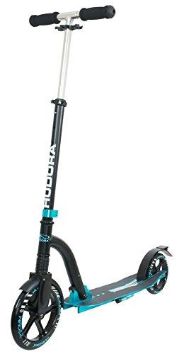 HUDORA Big Wheel Bold Cushion Tret-Roller mit Stoßdämpfung, türkis / schwarz, 14243