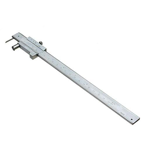 ConPush 200mm Anreiss Messschieber Streichmaß mit Rolle, Edelstahl schieblehre analog für Holz, Kunststoff,...