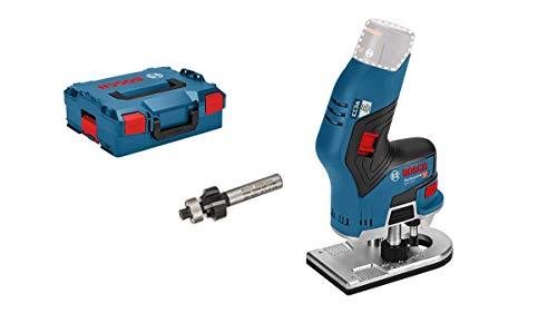 Bosch Professional 12V System Akku Kantenfräse GKF 12V-8 (ohne Akkus und Ladegerät, inkl. Spannzange,...