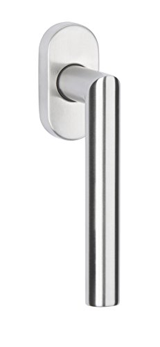 Gedotec Design Fenstergriff Edelstahl Fensterolive L-Form | Drehkipp-Rasterolive ohne Schließzylinder |...