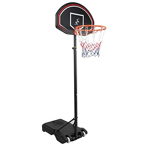 YOLEO Basketballkorb für Kinder, 1,6 bis 2,1 Meter höhenverstellbar Basketballständer Korbanlage beweglich...