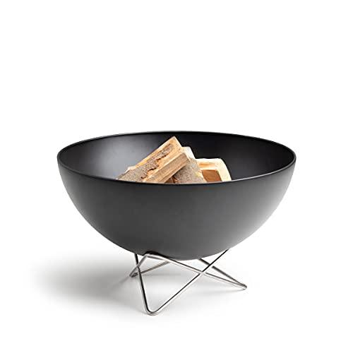 höfats - Bowl Feuerschale mit Drahtfuß - als Feuerstelle, Grill und Plancha nutzbar - für Garten und...