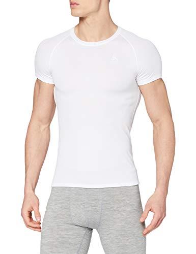 Odlo Herren BL TOP Crew neck s/s ACTIVE F-DRY LIGHT Unterhemd, white, L