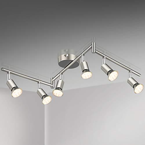 Defurhome LED Deckenleuchte Drehbar, 6 Flammig LED Strahler Deckenlampe Spot,Modern Deckenstrahler (Mattes...