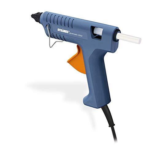 Steinel Heißklebe-Pistole Gluematic 3002, Förderleistung 16 g/min, Inkl. 3 Klebesticks 11 mm, zum Basteln...