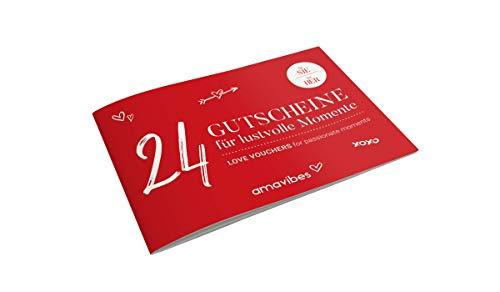 Premium Liebes-Gutscheinheft für Frauen: 24 Liebes-Gutscheine, Partner-Geschenk für Freundin, Partner