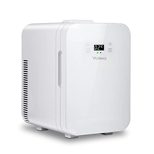 YOLEO mini Kühlschrank 10L, Warmhaltebox Kühlbox Auto mit Kühl- und Heizfunktion, -9~65 ℃...