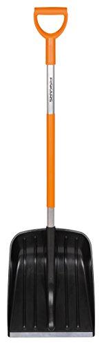Fiskars Schneeschaufel für kleine Schneemengen, Blattbreite: 35 cm, Kunststoff-Blatt/Aluminium-Stiel,...