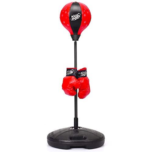 DREAMADE Boxset Standboxsack mit Boxhandschuhen & Pumpe, von 81cm bis 122cm höhenverstellbares Punchingball...