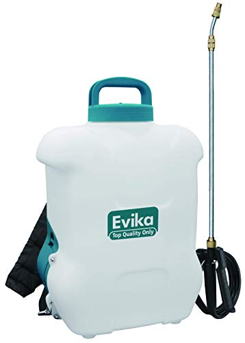 EVIKA Akku Drucksprüher rückenspritze DJ 16 Liter mit 12V Lithium-Ion Batterie, Autopump, 110cm...