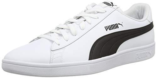 Puma Unisex-Erwachsene Smash v2 L Sneaker, White White Black, 46 EU