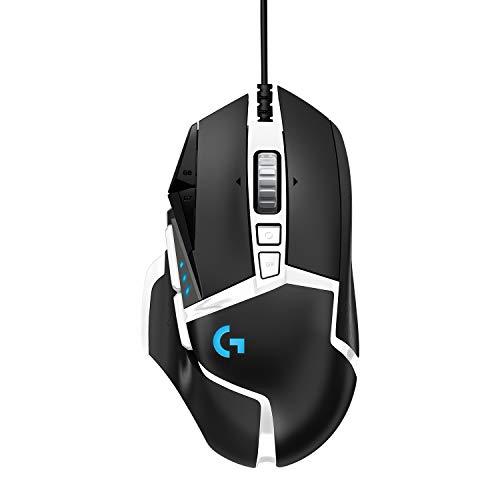 Logitech G502 HERO Gaming-Maus Special Edition mit HERO 25K DPI Sensor, RGB-Beleuchtung, Gewichtstuning, 11...