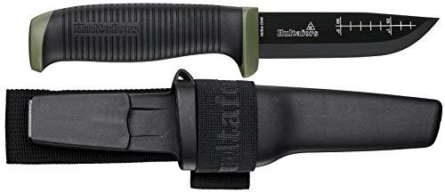Hultafors OK4, Outdoor-/ Gürtelmesser mit Karbonstahlklinge und Rutschfestem Griff
