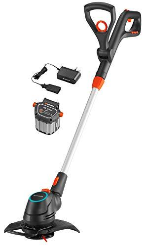 Gardena 09878-28 Akku-Trimmer ComfortCut Li-18/23 Fertigset, schwarz, anthrazit, grau, türkis, orange