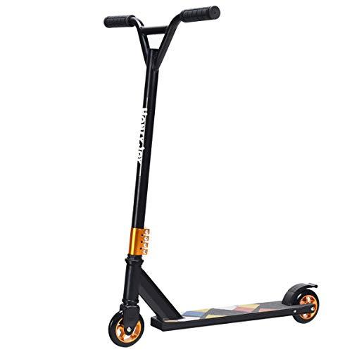 COSTWAY Stunt Scooter mit PU-Rädern, Trick Roller bis 100KG belastbar, Stuntscooter, Freestylescooter,...