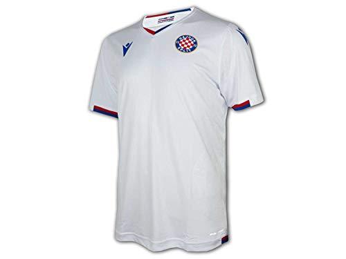 Macron Hajduk Split Heimtrikot 20 21 weiß Hajduk Home Shirt Fan Jersey Kroatien, Größe:M