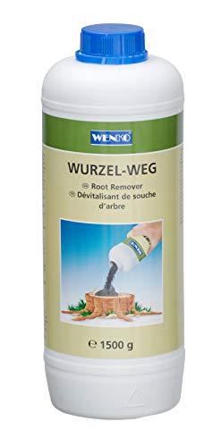 WENKO Wurzel-weg 1500 g - Wurzelentferner, Chemische Zusammensetzung, 9 x 26 x 9 cm, Dunkelblau