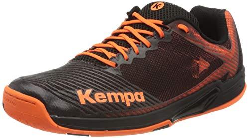 Kempa Herren Wing 2.0 Handballschuhe, Mehrfarbig (Schwarz/Fluo Orange 02), 44 EU