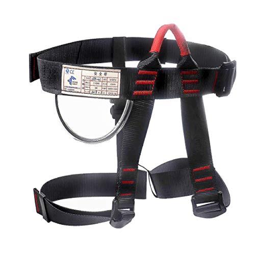 TRIWONDER Klettergurt Sicherheitsgurt Hüfte Schutz Gürtel für Bergsteigen Klettern Harness (Schwarz)