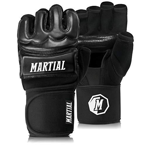 MMA Handschuhe Profi von Martial - professionelle Qualität - hochwertige Konstruktion - Boxen, Training,...