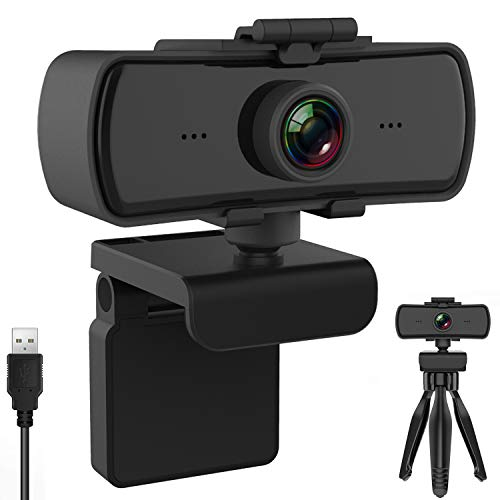BENEWY Webcam 1440P mit Mikrofon und Objektivdeckel, Upgrade FHD 1080P Webcam, Plug and Play USB Kamera für...