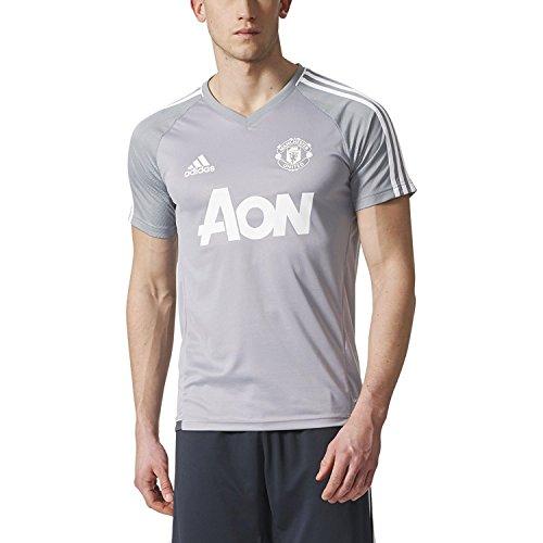 adidas Manchester United Trainings-Trikot für Herren, kurzärmelig - Grau - Mittel