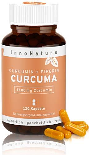 Hochdosierte Curcuma/Kurkuma + Piperin Kapseln mit 1100mg reinem Curcuminoide Gehalt. 120 Kapseln im...