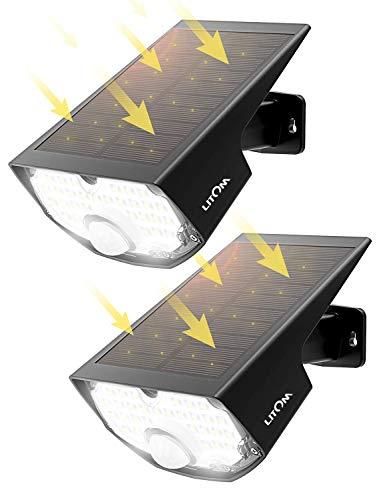 LED Solar Strahler, Mpow Solarlampen für Außen【Super Hell】, Solar LED-Außenleuchte,Solarleuchte mit...