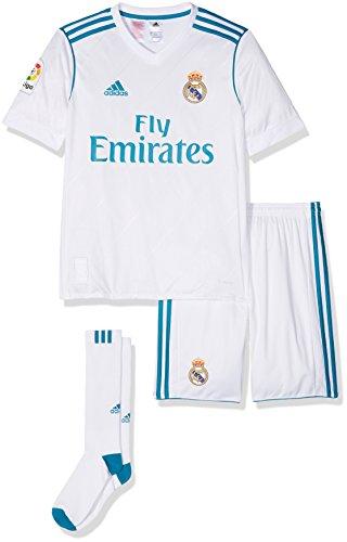 adidas Kinder Auswärtsausrüstung Real Madrid Auswärt Mini Kit, Weiss (BLANCO/AZUINT), 164