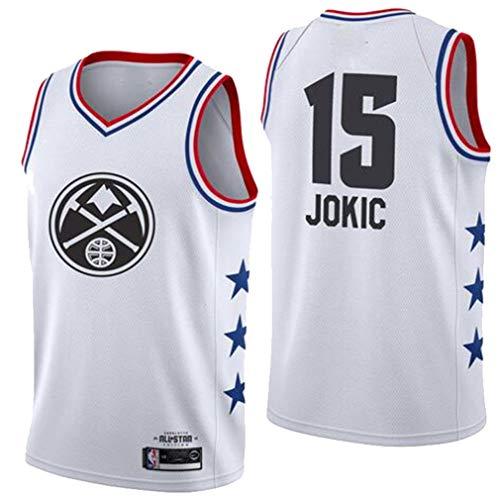 ADFA NBA Nr. 15 Basketball Trikot, Nuggets Nr. 15 Nikola-Jokic Trikot Weste, 15# Fan Trikot Sportswear-C1-XXL