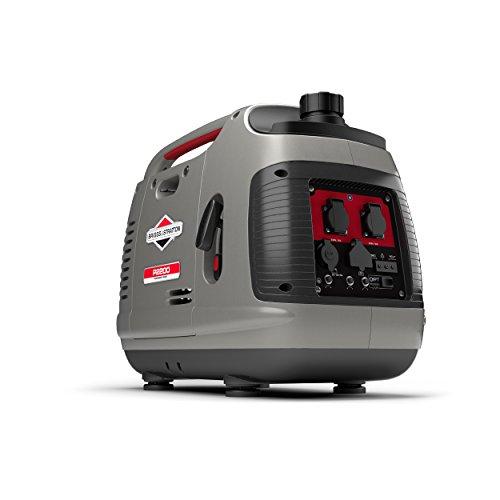Briggs & Stratton Tragbarer Benzin-Inverter-Generator der PowerSmart-Serie P2200 mit 2200 Watt/1700 Watt...