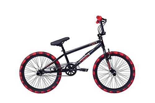 Frank Bikes 20 Zoll BMX Fahrrad Rad KINDERFAHRRAD 360° Rotor Freestyle Bike Rock SCHWARZ