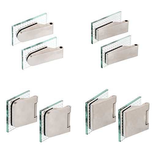 Glastürband Paar Edelstahl matt Glastürbeschlag Studiobohrung Officebohrung Glastürbänder...