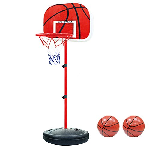 PELLOR Einstellbare Basketballständer, Basketballkorb mit Ständer Höhenverstellbar Basketball-Backboard...