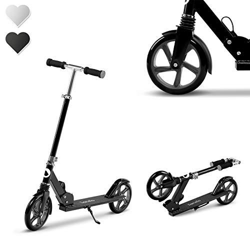 Lionelo Luca Roller Kinder, Stunt Scooter, Tretroller bis 100 kg, Räder 200mm, einstellbares Lenkrad, Bremse,...