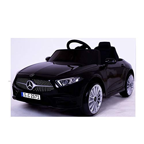 crooza Mercedes-Benz CLS350 Kinderauto Schwarz Kinder Elektro Elektrofahrzeug mit Fernbedienung mp3, USB, 2X...