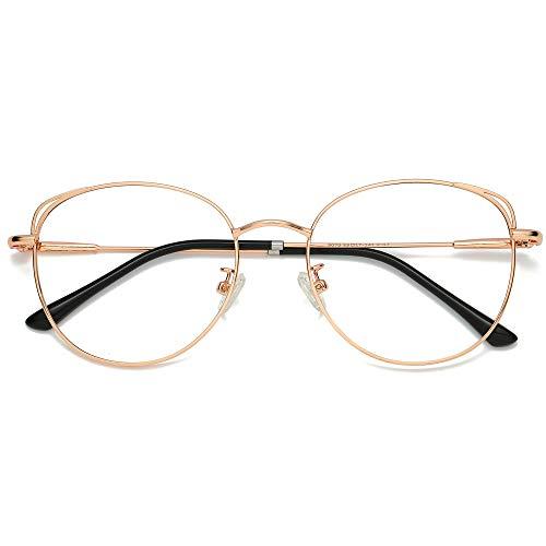 SOJOS Brille mit Blaulichtfilter Blockieren Blaue Licht von PC, TV und Handy Katzenauge ohne Sehstärke...