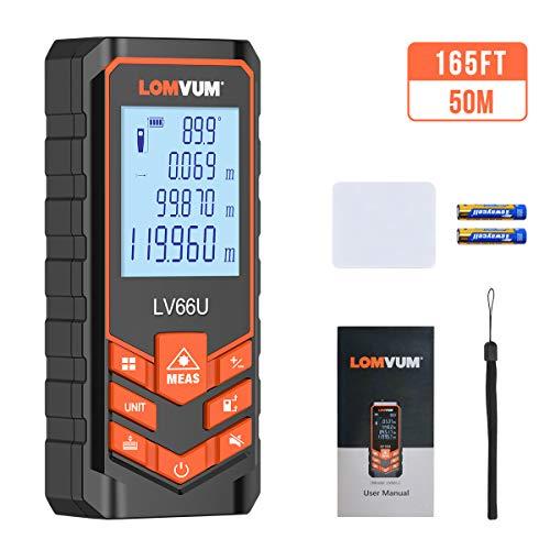 Laser Entfernungsmesser Distanz 50M,LOMVUM Laser Messgerät Entfernung Messen Sie Entfernung, Fläche und...