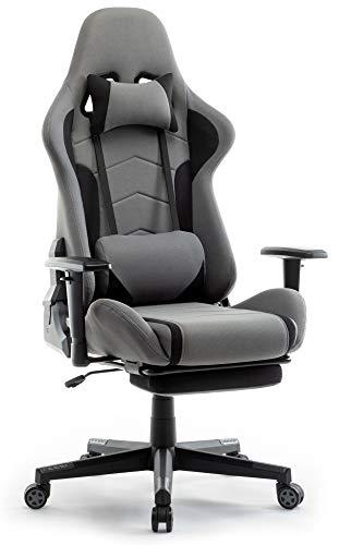 IntimaTe WM Heart Gaming Stuhl, Racing Gamer Stuhl Bürostuhl Stoff, Ergonomischer Computerstuhl mit...