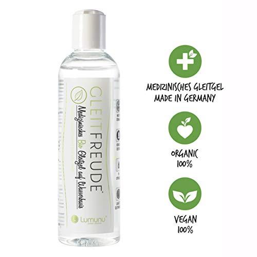 Deluxe Gleitfreude Veganes Bio Gleitgel, Langzeitgleitwirkung auf Wasserbasis (250ml), von Venize