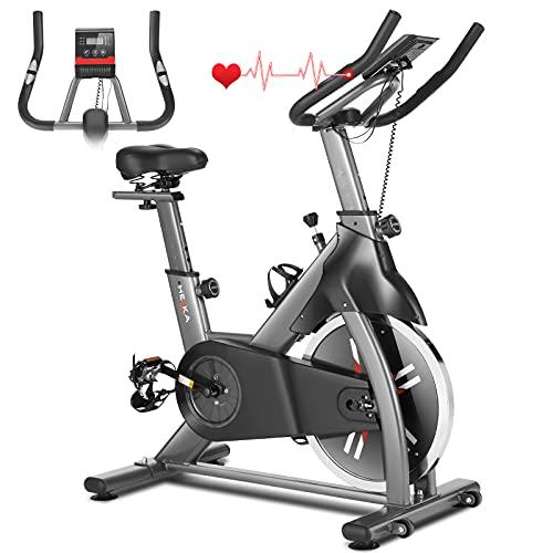 HEKA Heimtrainer Fahrrad, Hometrainer für zuhause mit 20kg Stahlschwungrad, Spinning Bikes Indoor,...