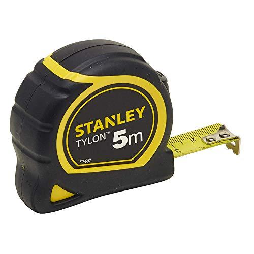 Stanley Bandmass Tylon (5 m, Tylon-Polymer Schutzschicht, verschiebbarer Endhaken, Kunststoffgehäuse)...