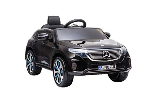 ES-TOYS Elektro Kinderauto Kinderfahrzeug mit Fernsteuerung Mercedes EQC - lizenziert - 12V Akku und 2...